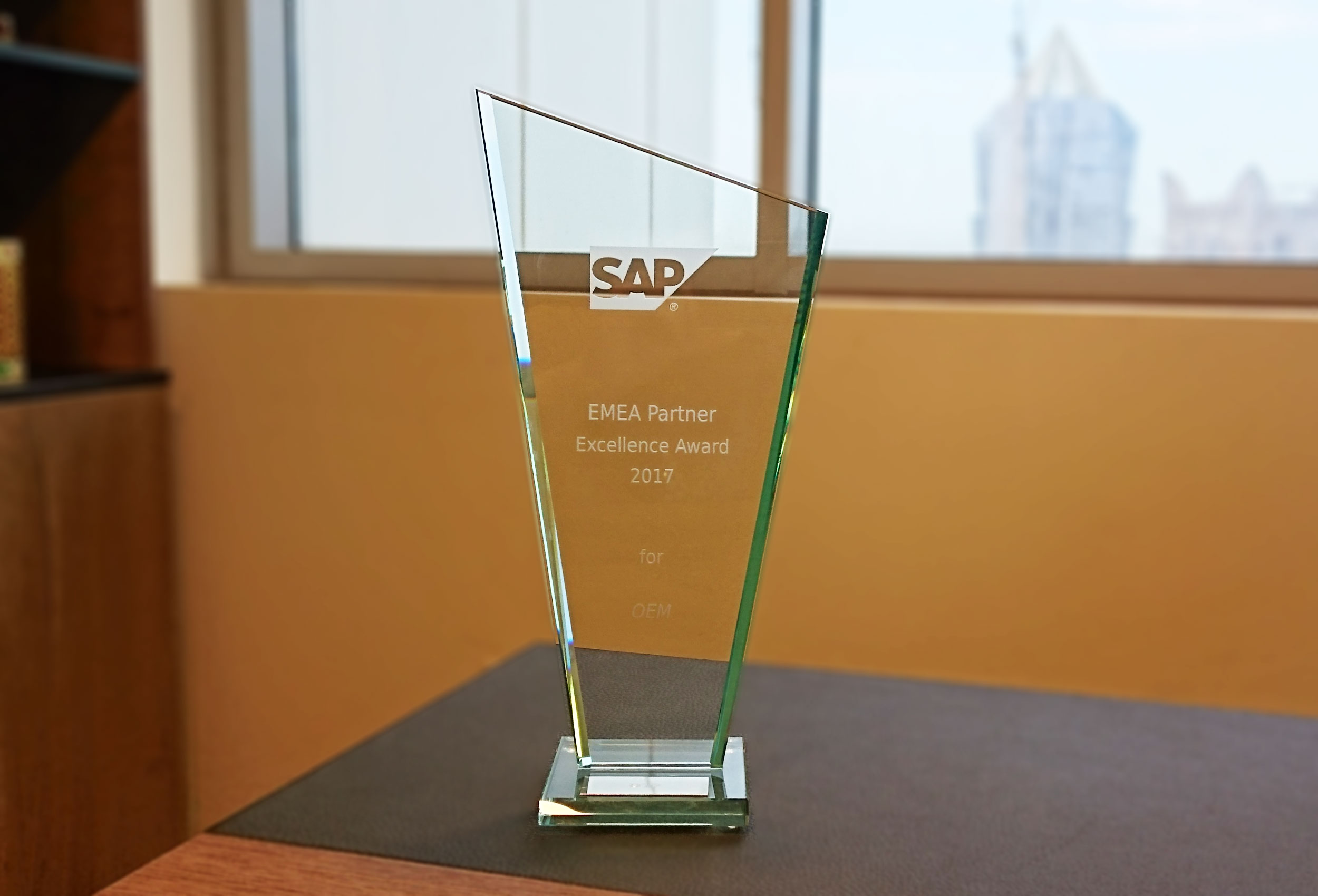 SAP EMEA Partner Excellence Award 2017 for DTP