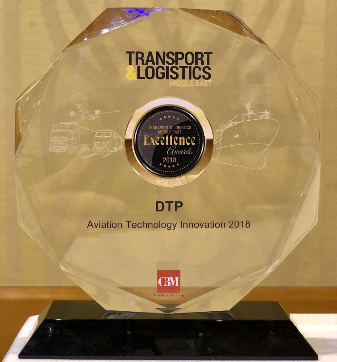 DTP receives Transport & Logistics ME's Excellence Award 2018